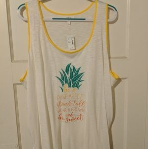 Maurices Size 3 Pineapple Print Tank Top NWT